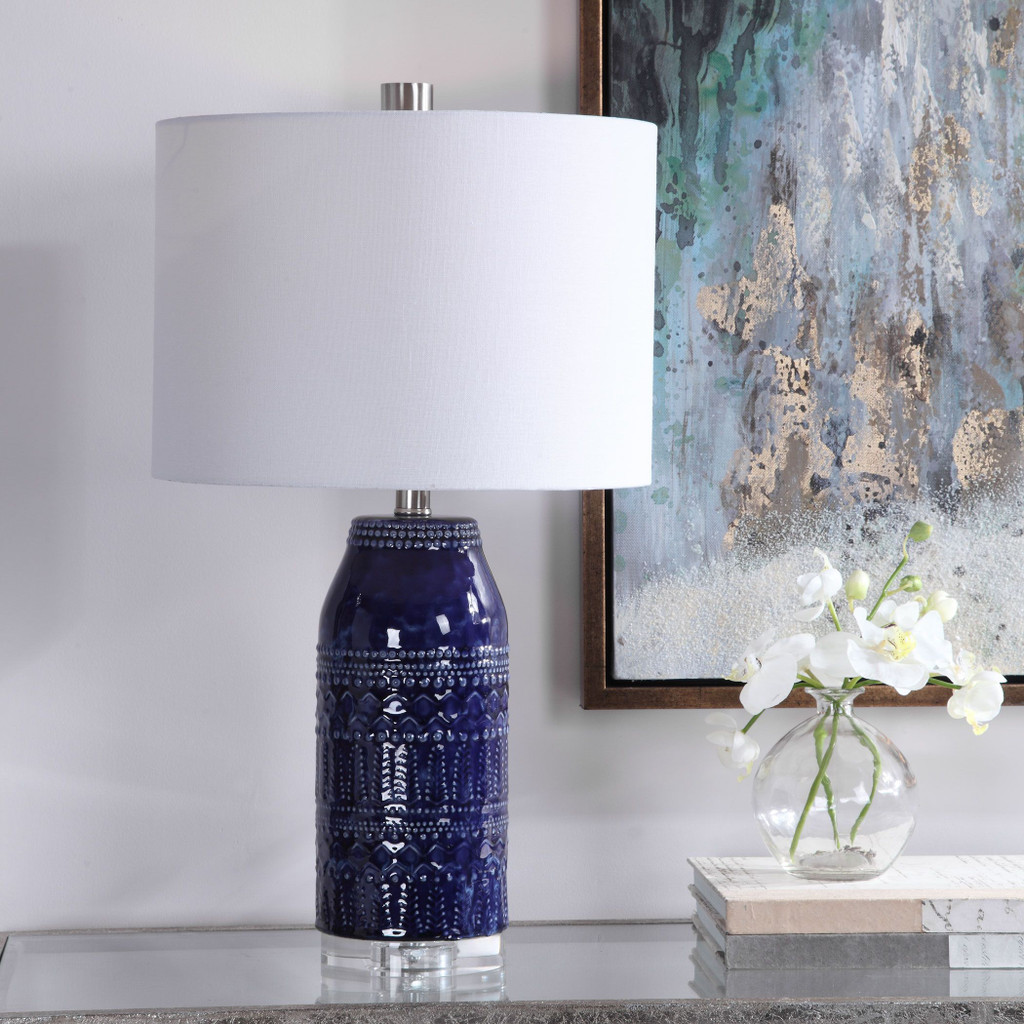 Daydream Blue Table Lamp room view