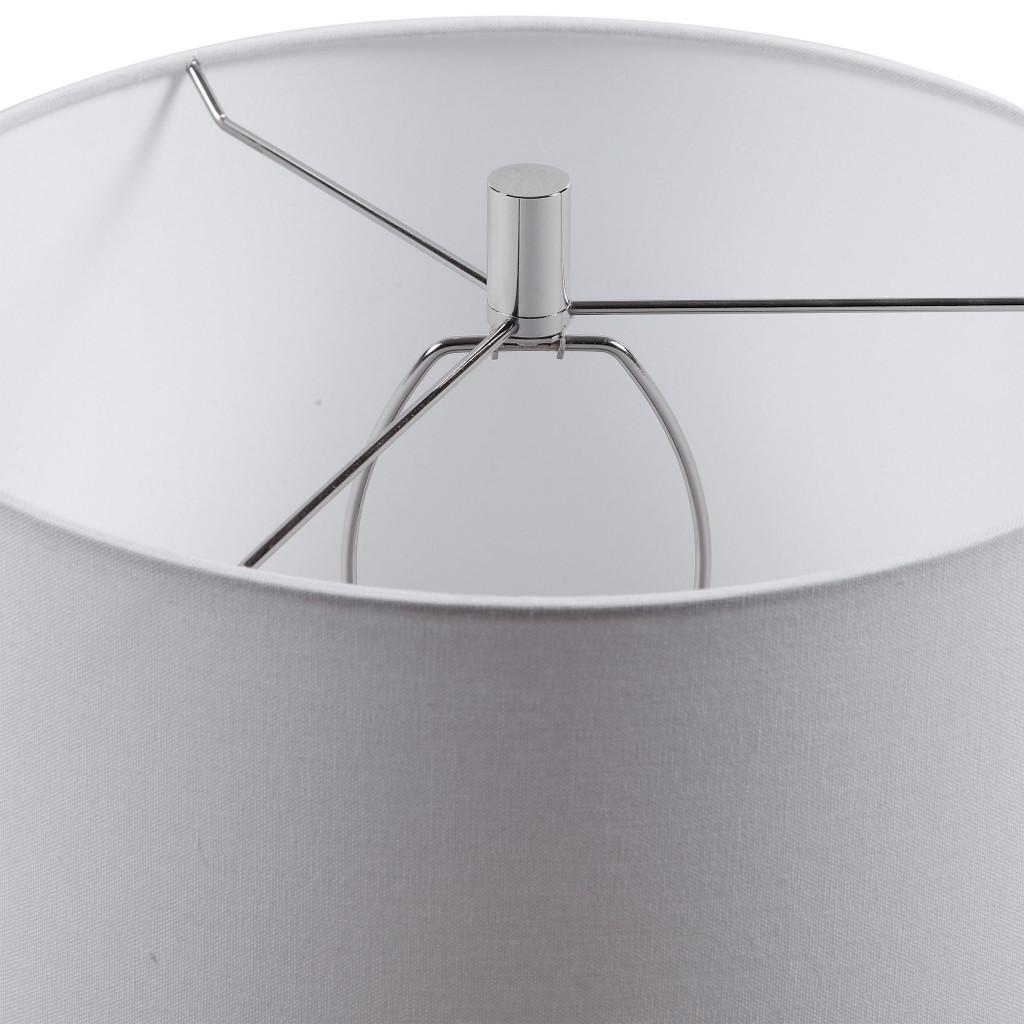 Montauk Sea Striped Table Lamp close up shade and finial