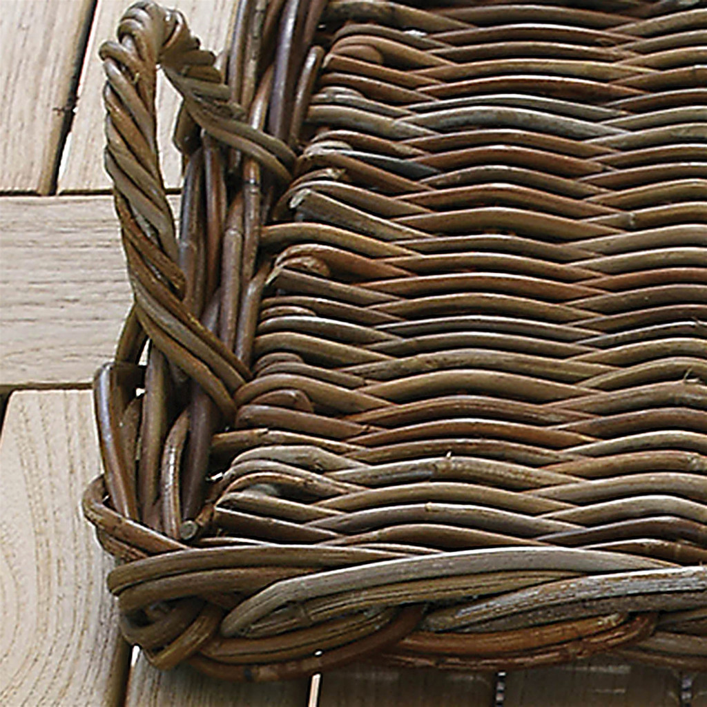 Sonoma Rattan Serving Trays - Set of 2 close up handle