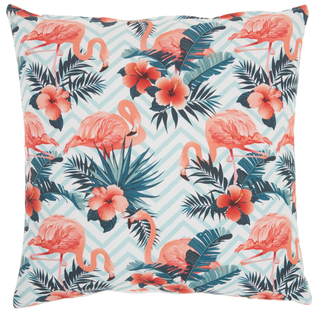 Life Styles Tropical Flamingos Pillow