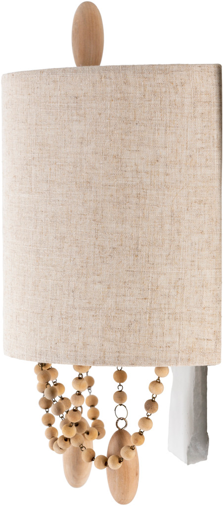 Emerlyn Beaded Wall Sconce side view light off