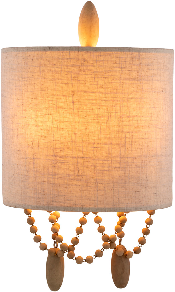 Emerlyn Beaded Wall Sconce light on