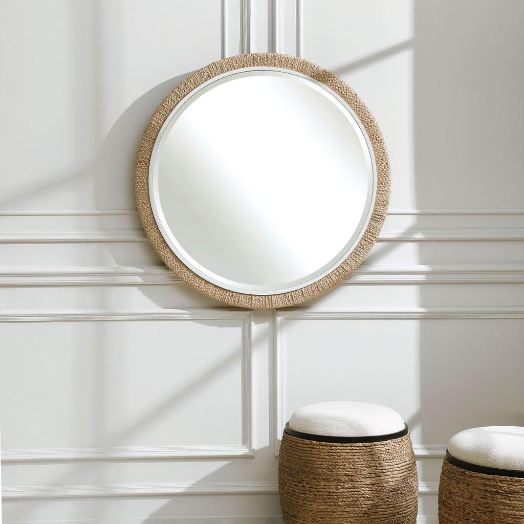 Robinson Crusoe Round Rope Mirror room view 2