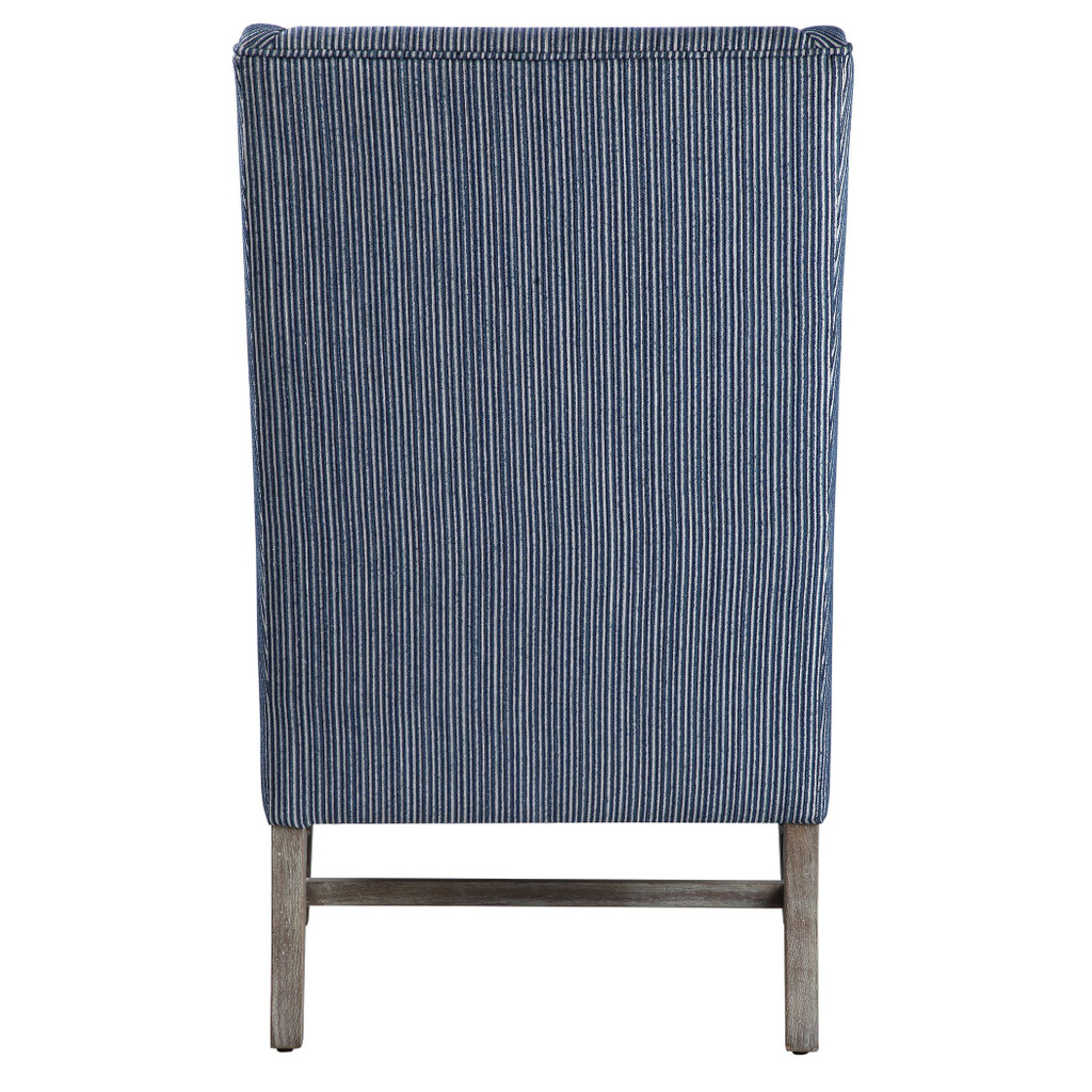 Galiot Striped Wingback Accent Chair back