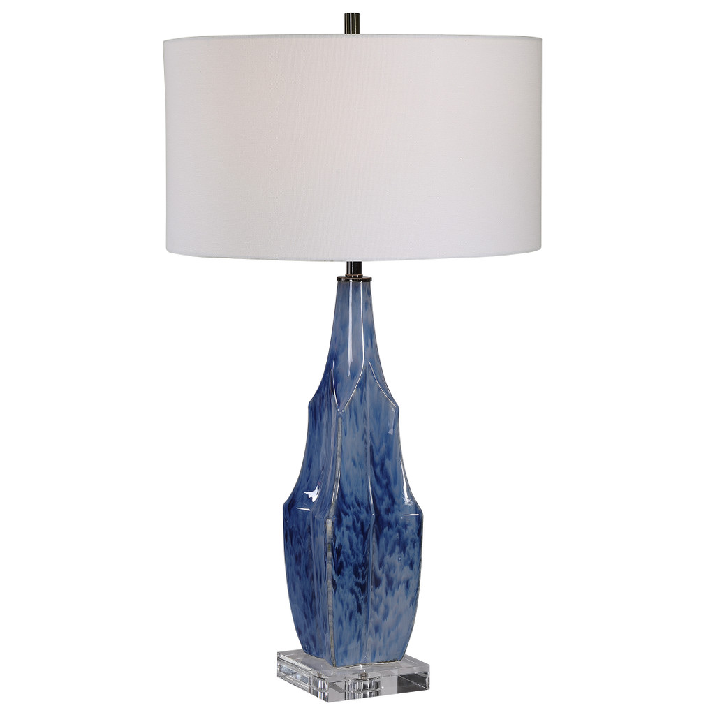 Everett Blue Glaze Table Lamp