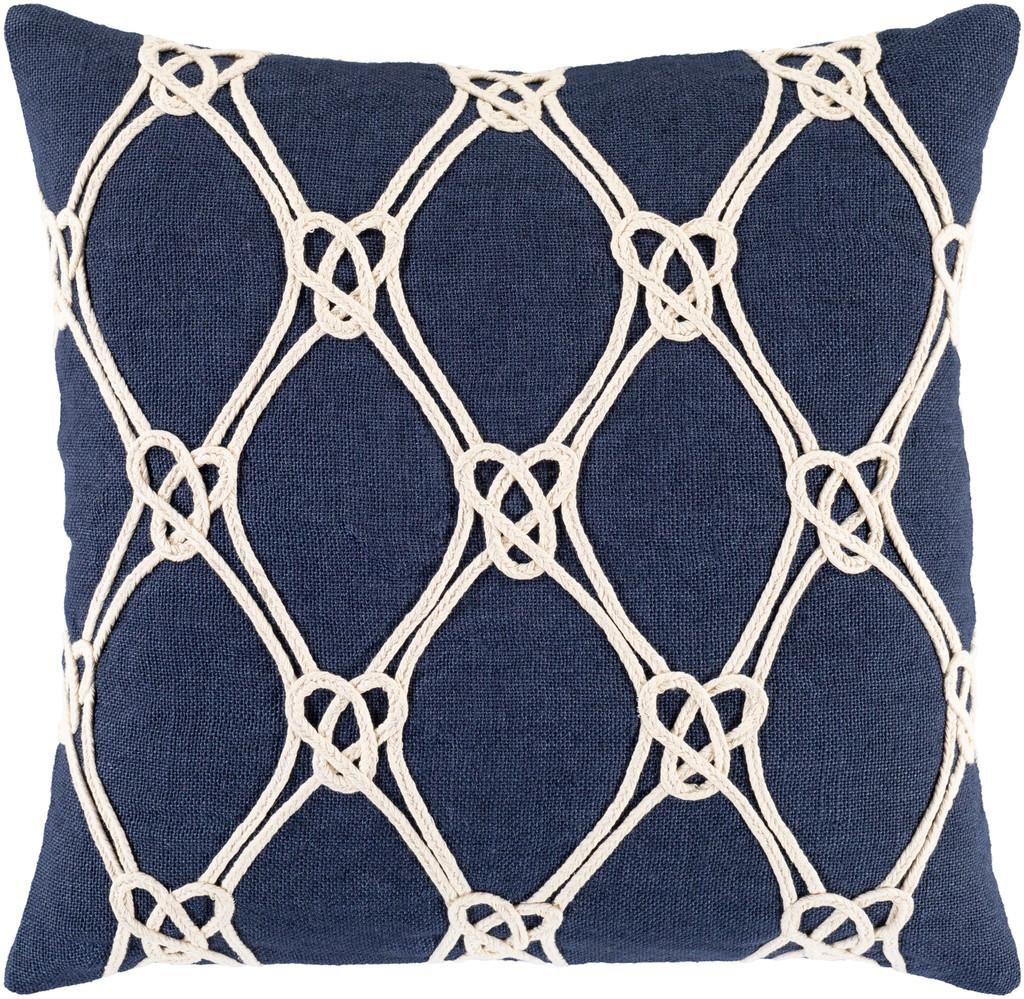 Monterey Sea Navy 20 x 20 Pillow
