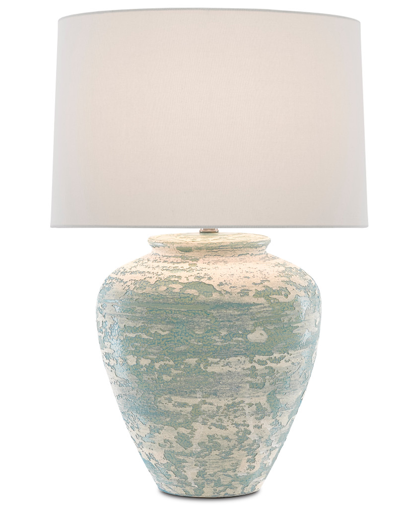 Mimi Turquoise Table Lamp light on