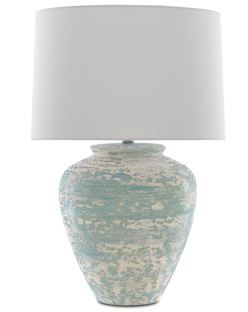 Mimi Turquoise Table Lamp light off