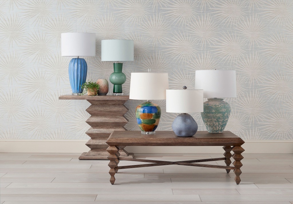 Blue Star Porcelain Table Lamp in collection