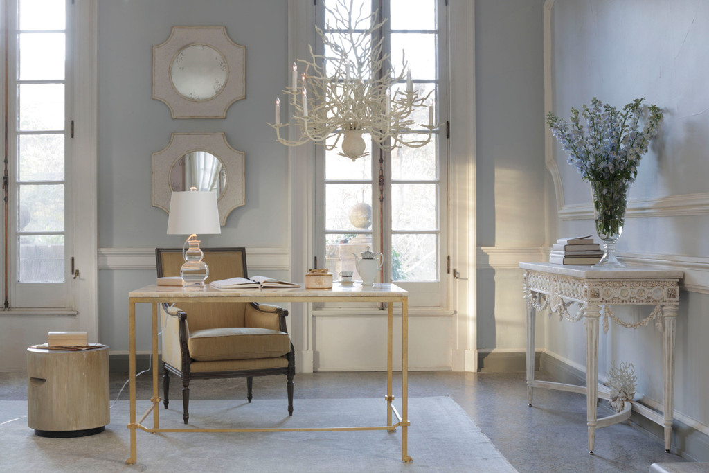 Large Seaward White Coral Branch Chandelier room view