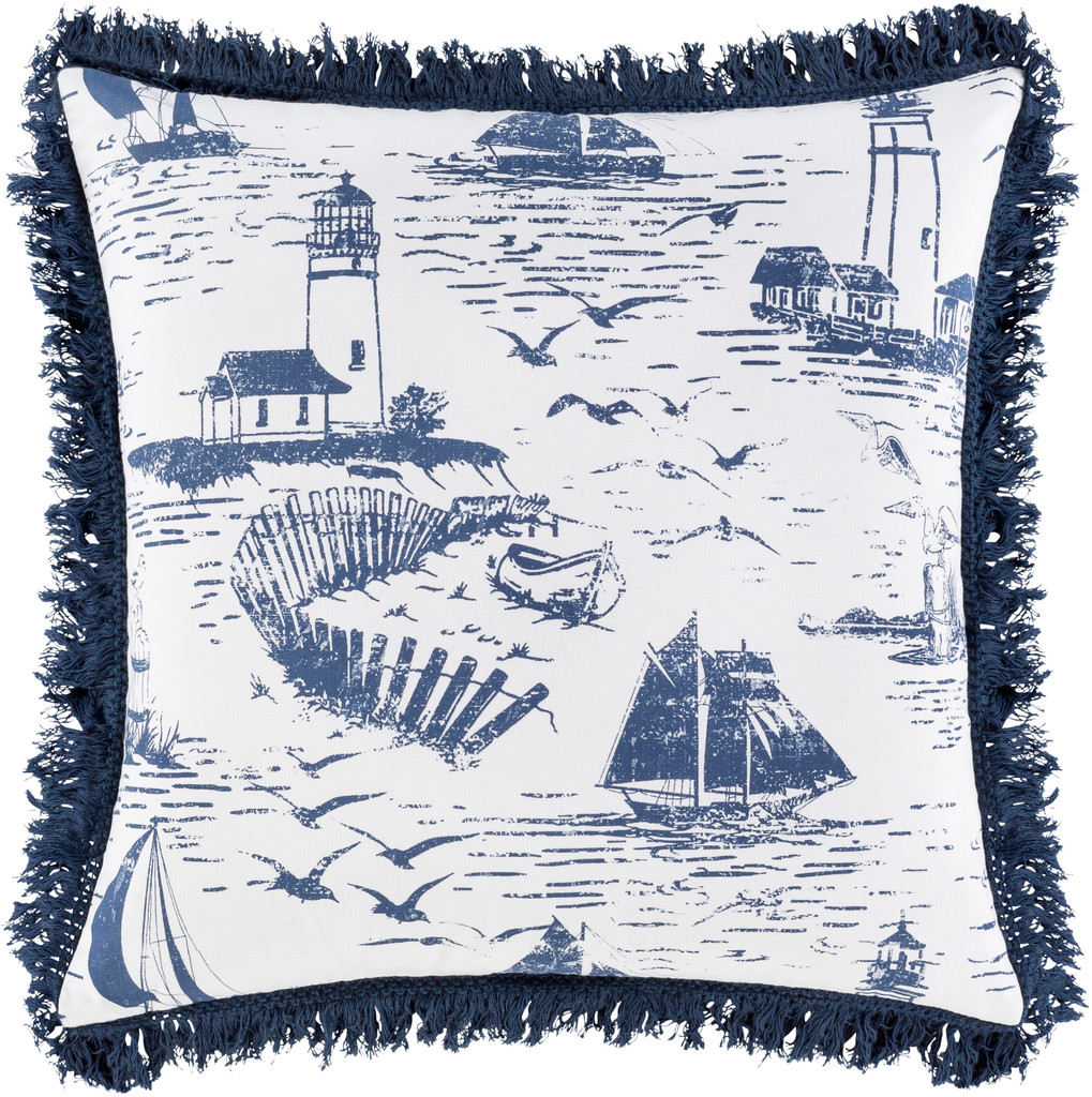 Castaway Nautical Fringed 20 x 20 Pillow