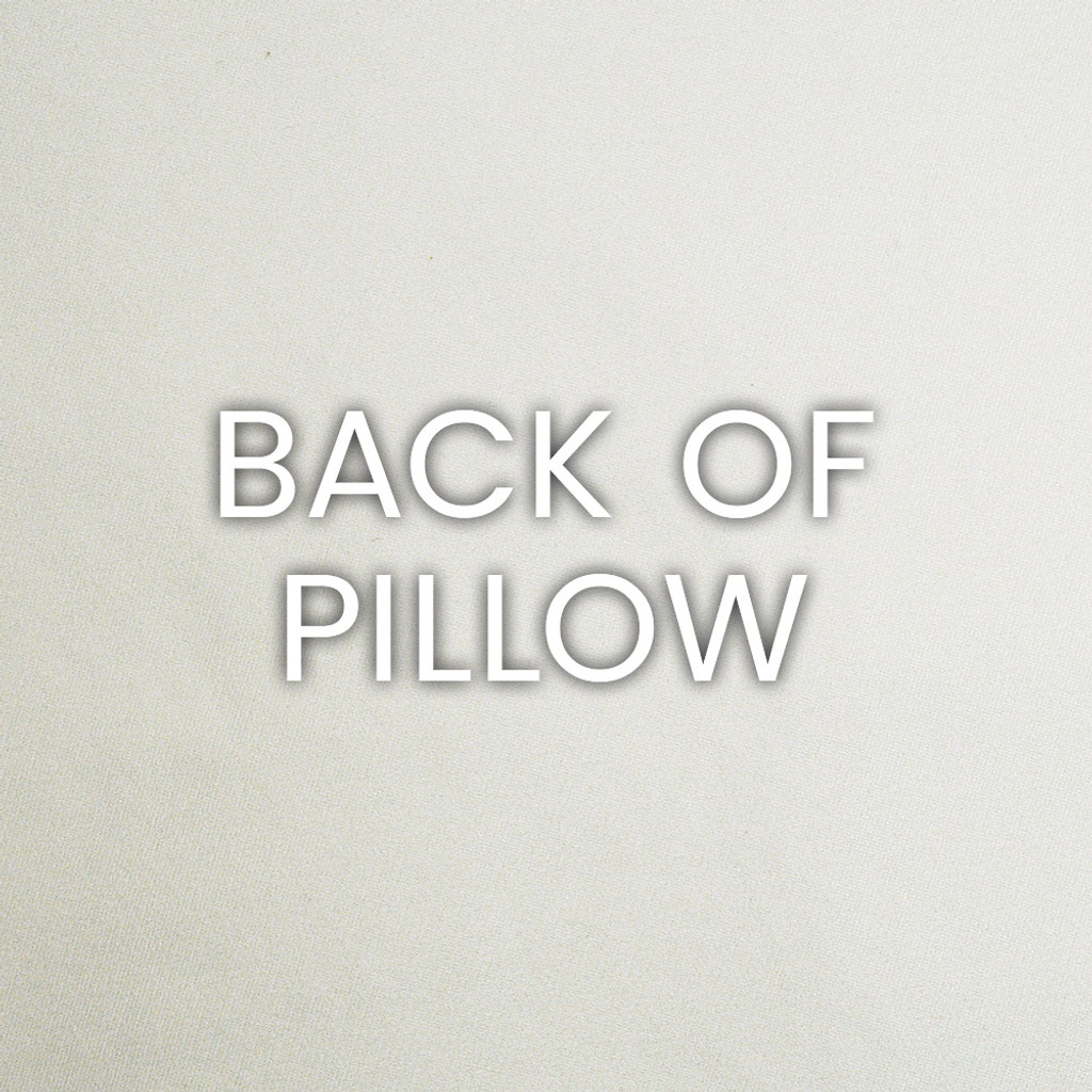 Bright Peacock Stripes Luxury Coastal Pillow back fabric