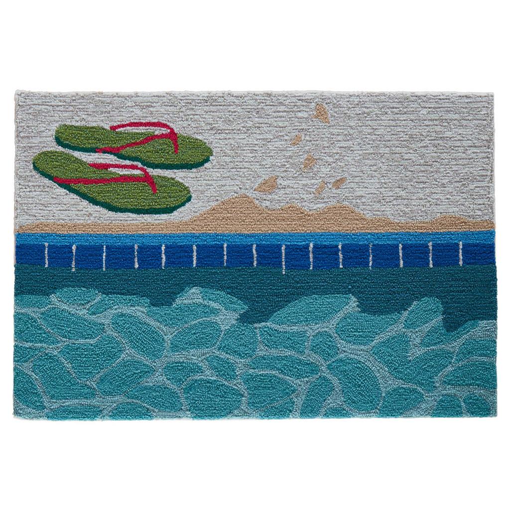 Poolside Flip Flop Accent Rug