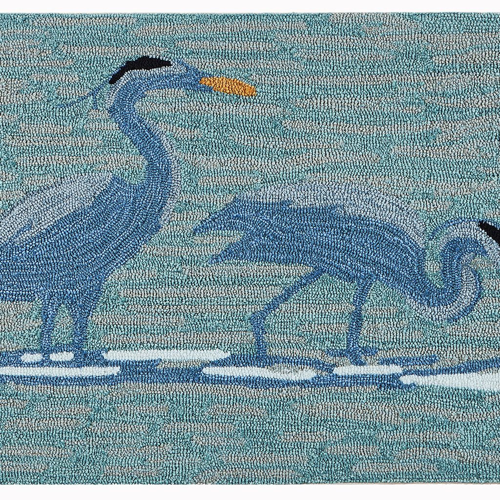 Blue Heron Lake Accent Rug close up