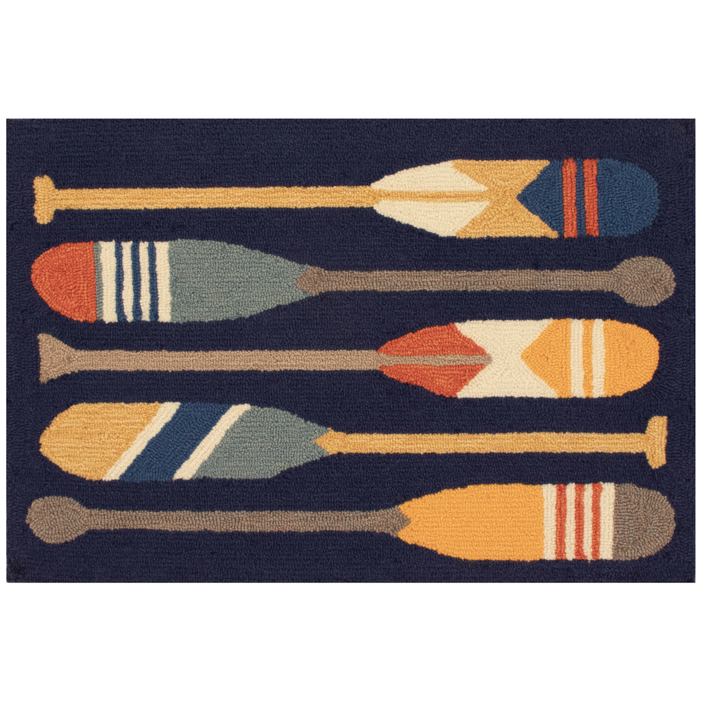Striped Paddles Accent Rug