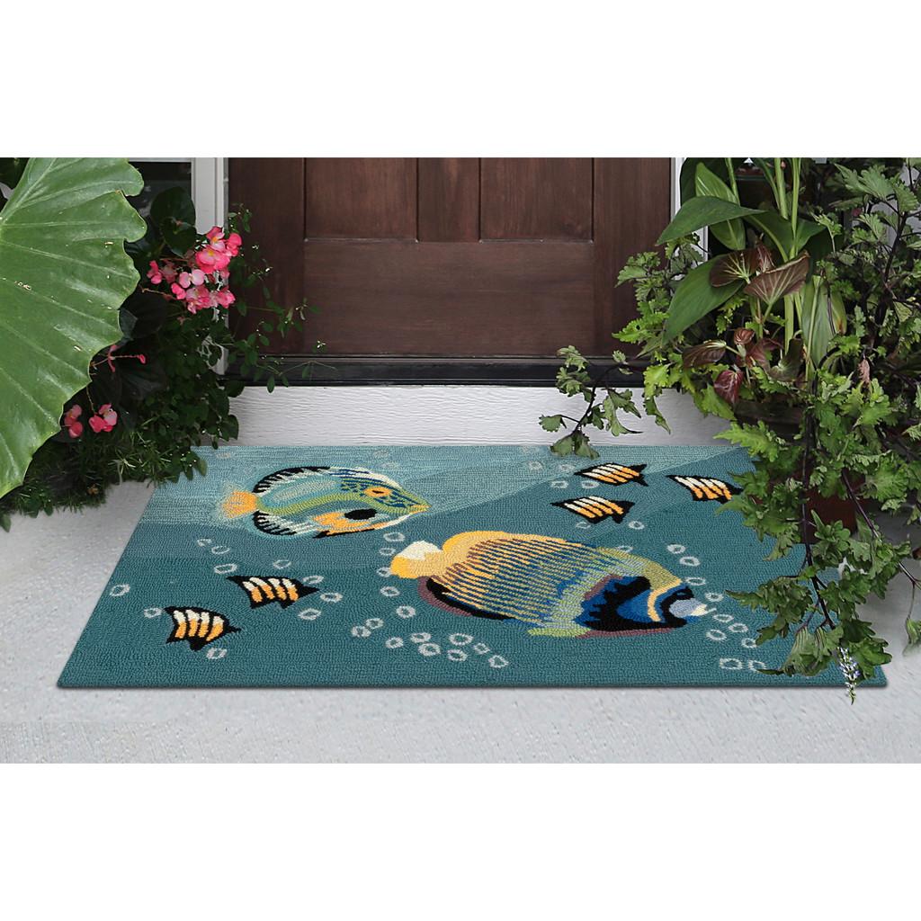 Tropical Aquarium Accent Rug front porch