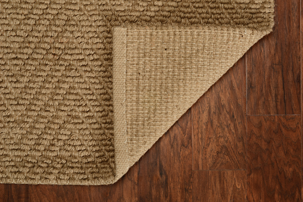 Natural Herringbone Design Jute Area Rug backing