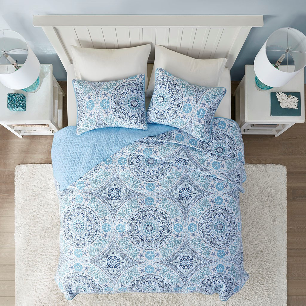 Summer Breeze 3-Piece Quilted Coverlet Set - Queen Size view 2