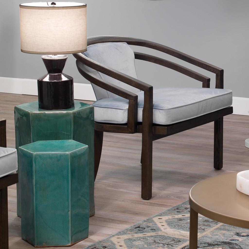Porto Side Tables in Azure Ceramic