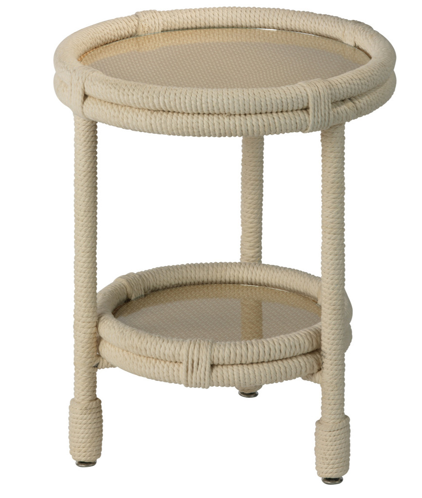Bravo Accent Table in White Rope