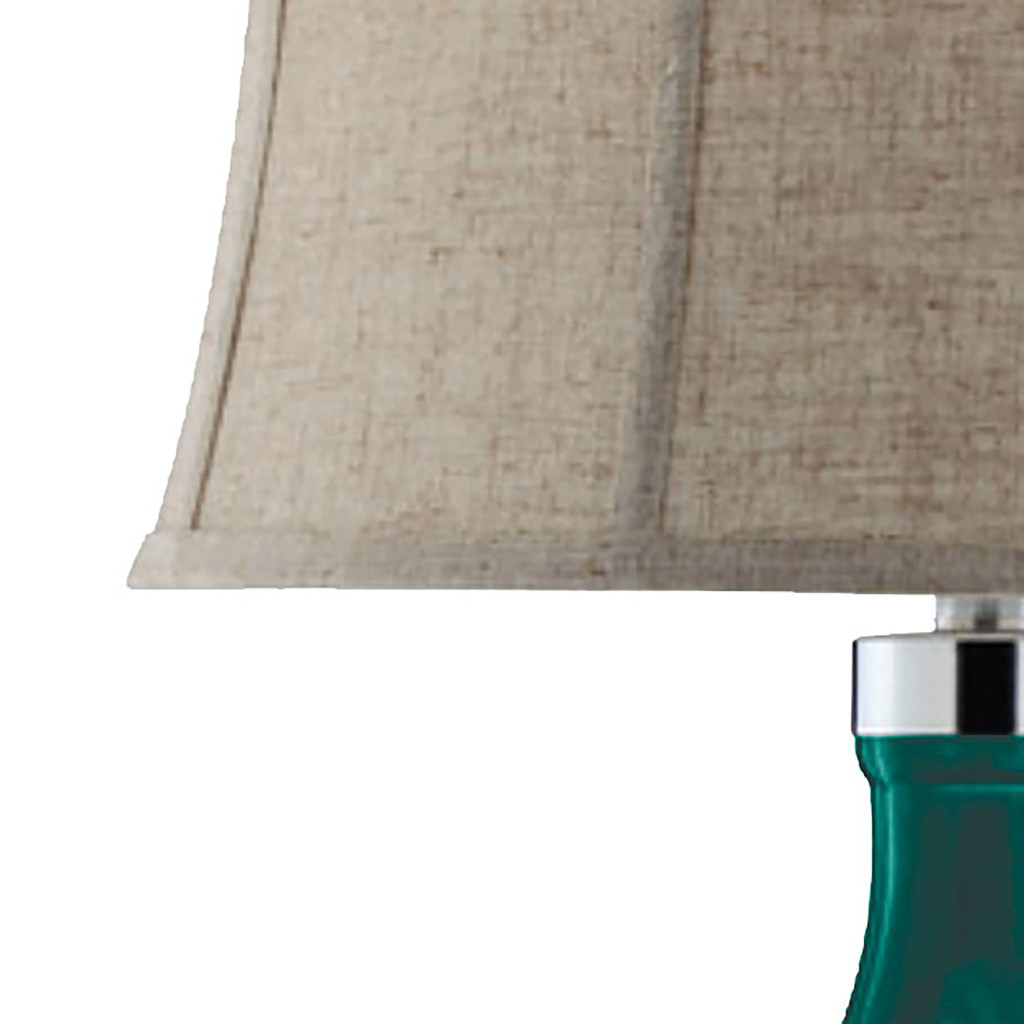 Cardiff by the Sea Glass Table Lamp close up 1