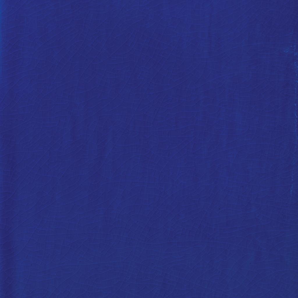 Porto Side Table in Cobalt Blue Ceramic close up