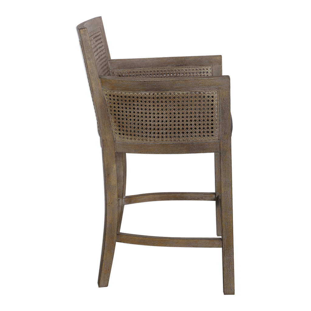 Encore Counter Stool in Grey side view