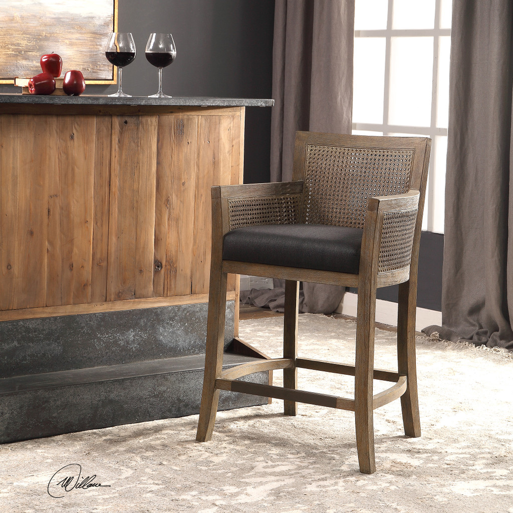 Encore Counter Stool in Grey room view