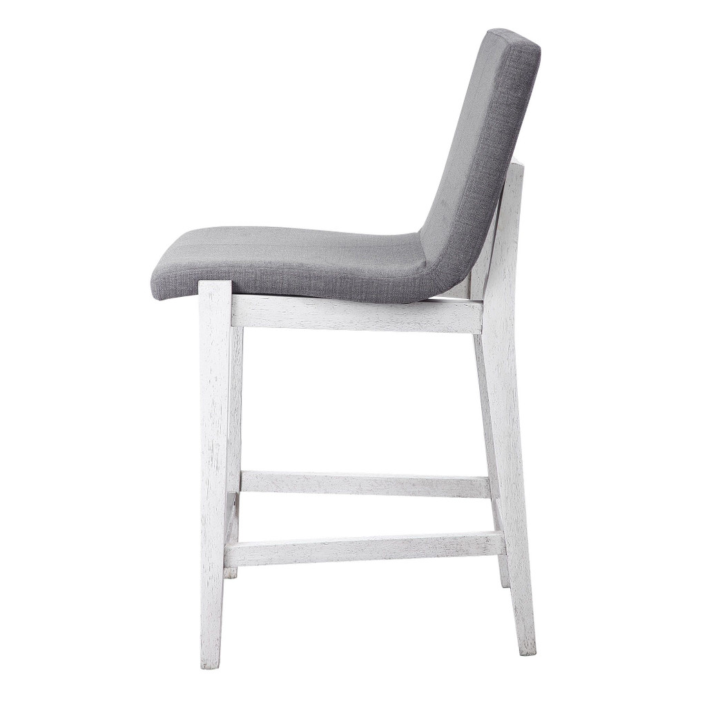 Bravo Charcoal Counter Stool side view