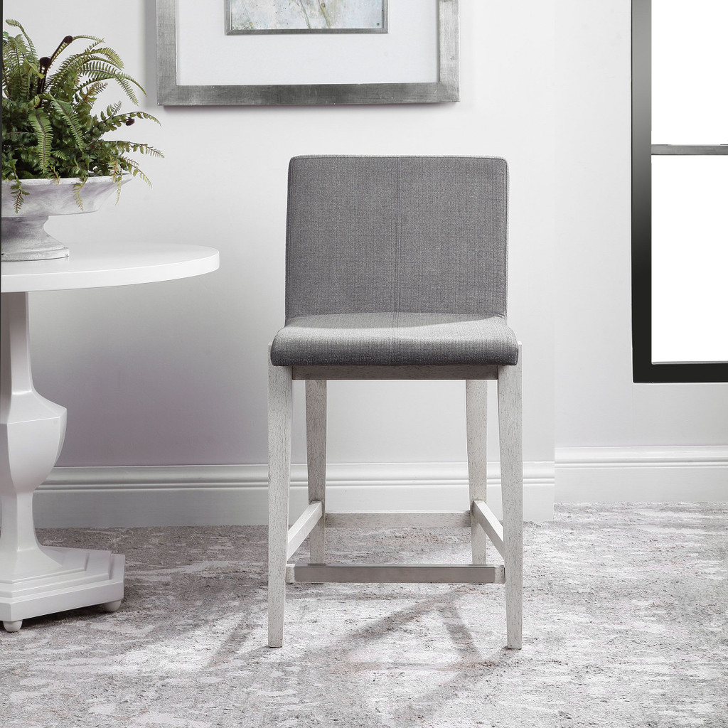 Bravo Charcoal Counter Stool front view room