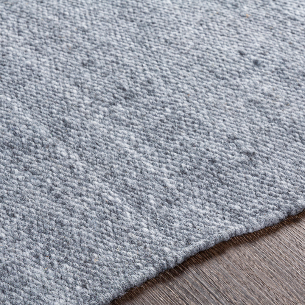 Azores Quarry Grey Braided Woven Rug close up 2