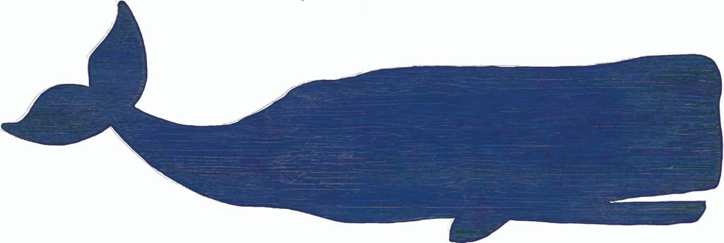 Large Navy Blue Whale Wall Decor