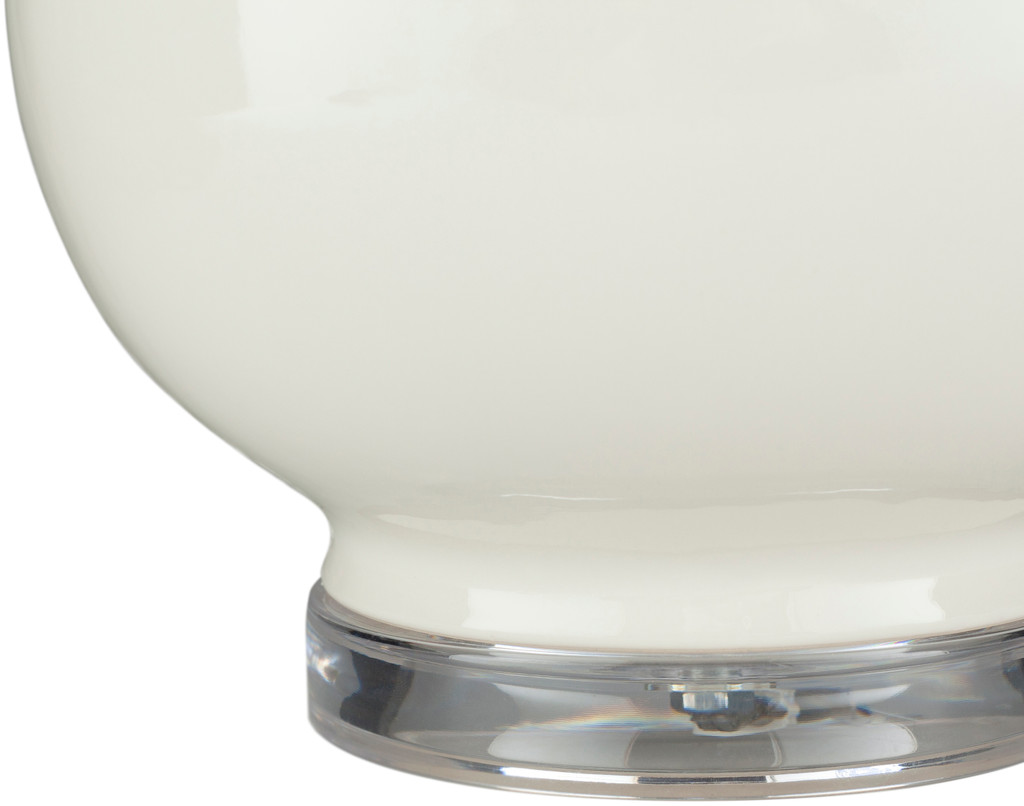Devon By the Sea White Table Lamp bottom of base