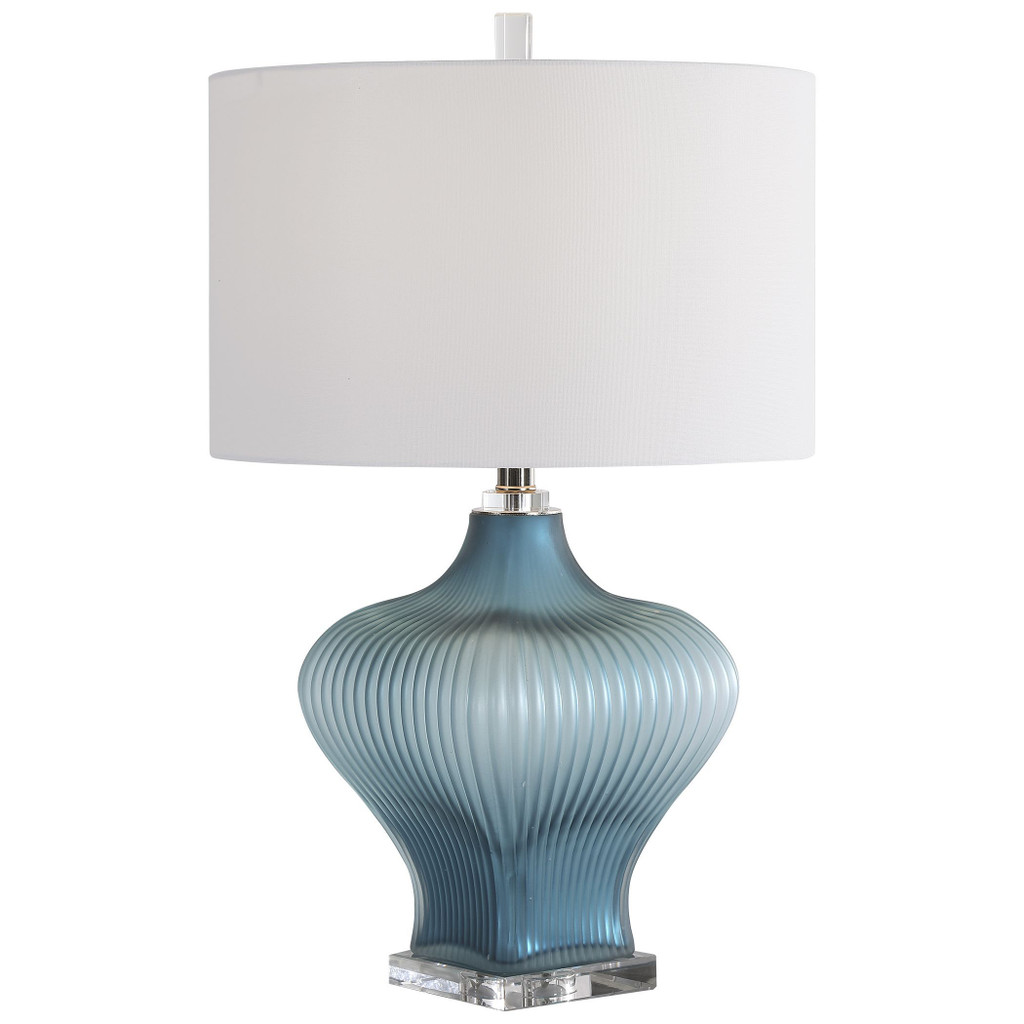 Marjorie Frosted Turquoise Table Lamp