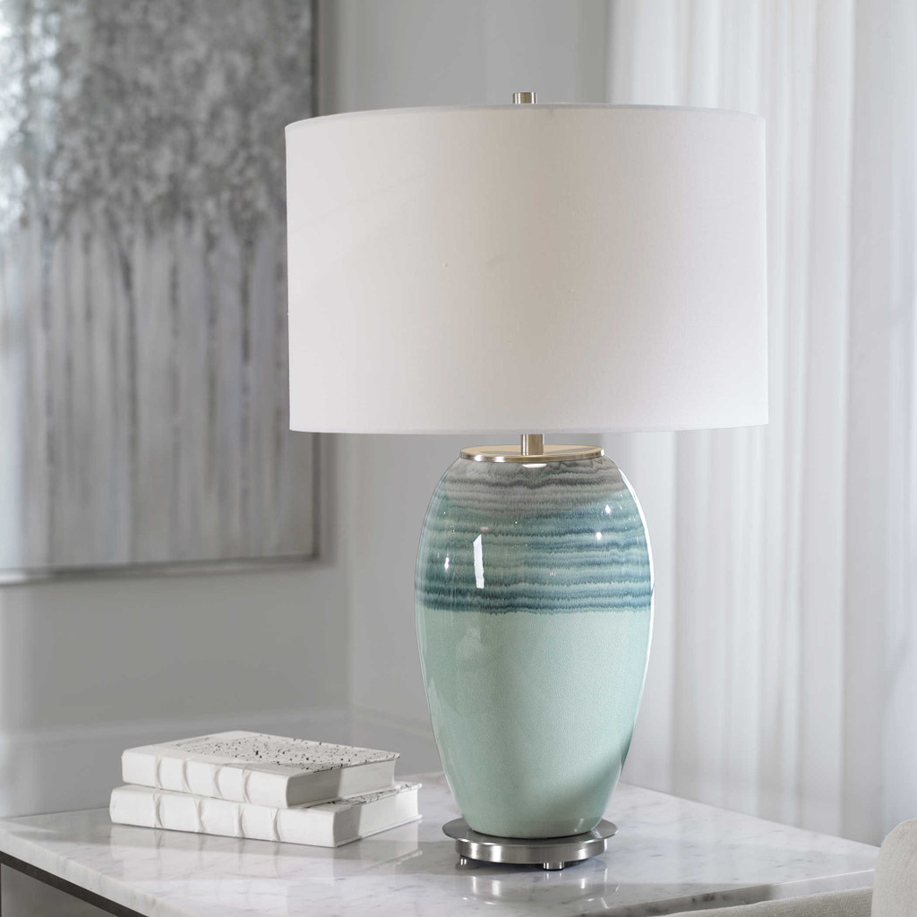 Caicos Aqua Table Lamp room view 3