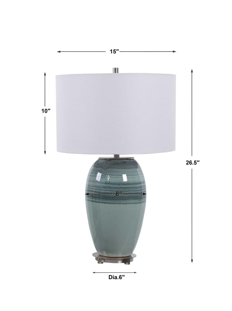 Caicos Aqua Table Lamp measurements