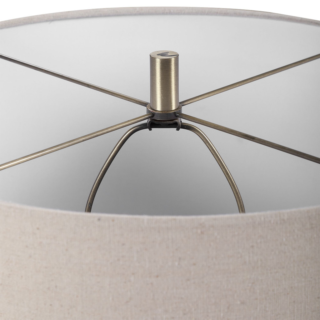 Seaside Striped Accent Lamp finial close up