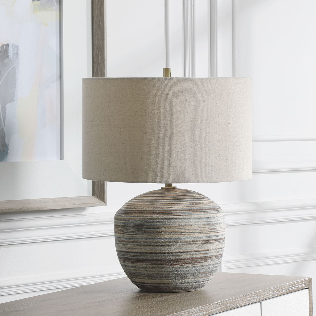 Seaside Striped Accent Lamp room view
