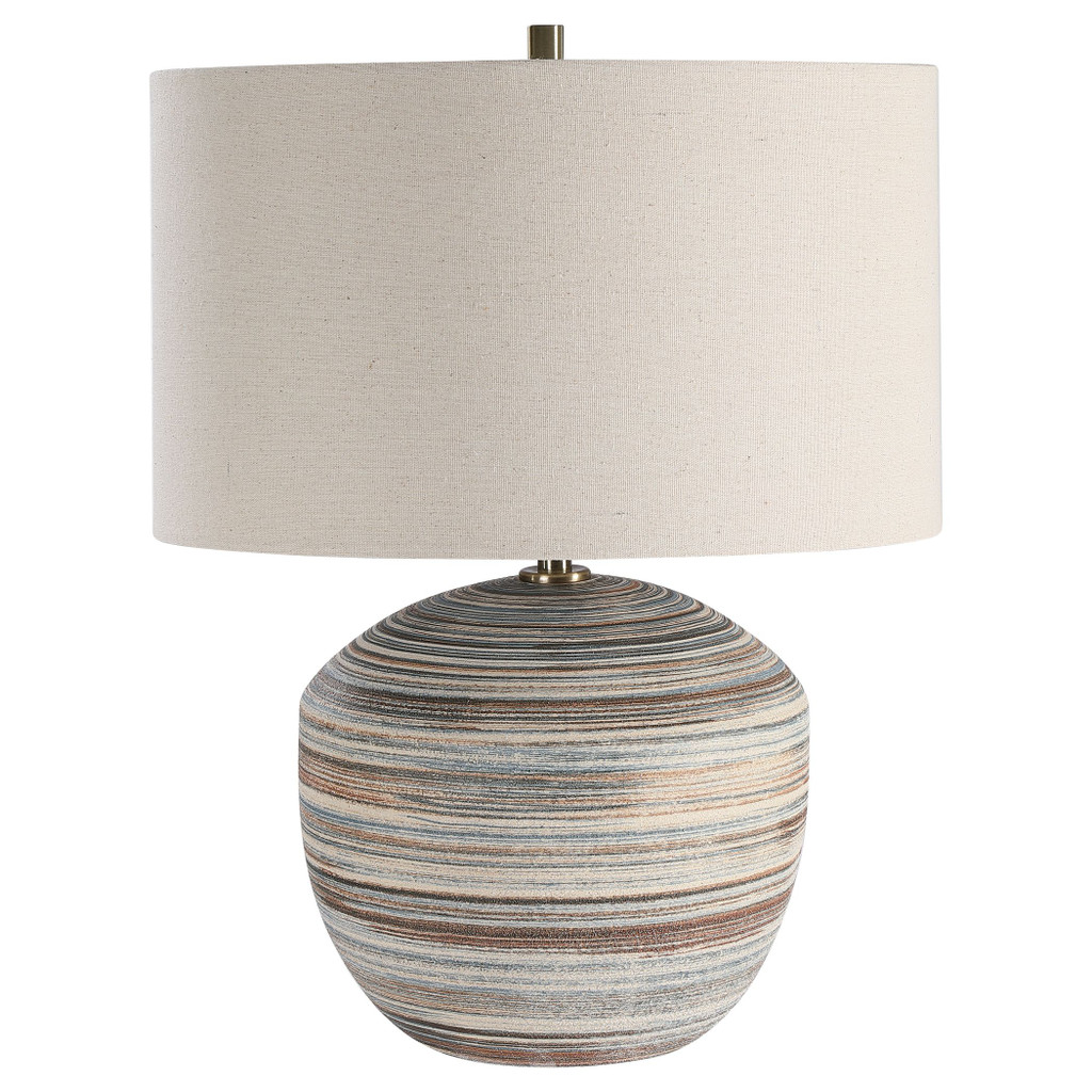 Seaside Striped Accent Lamp light off