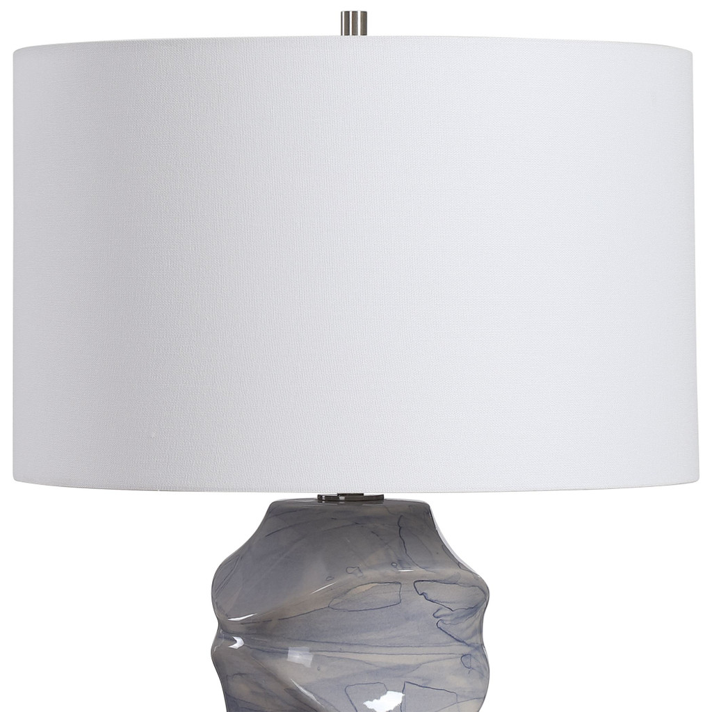 Waves Blue and White Table Lamp shade