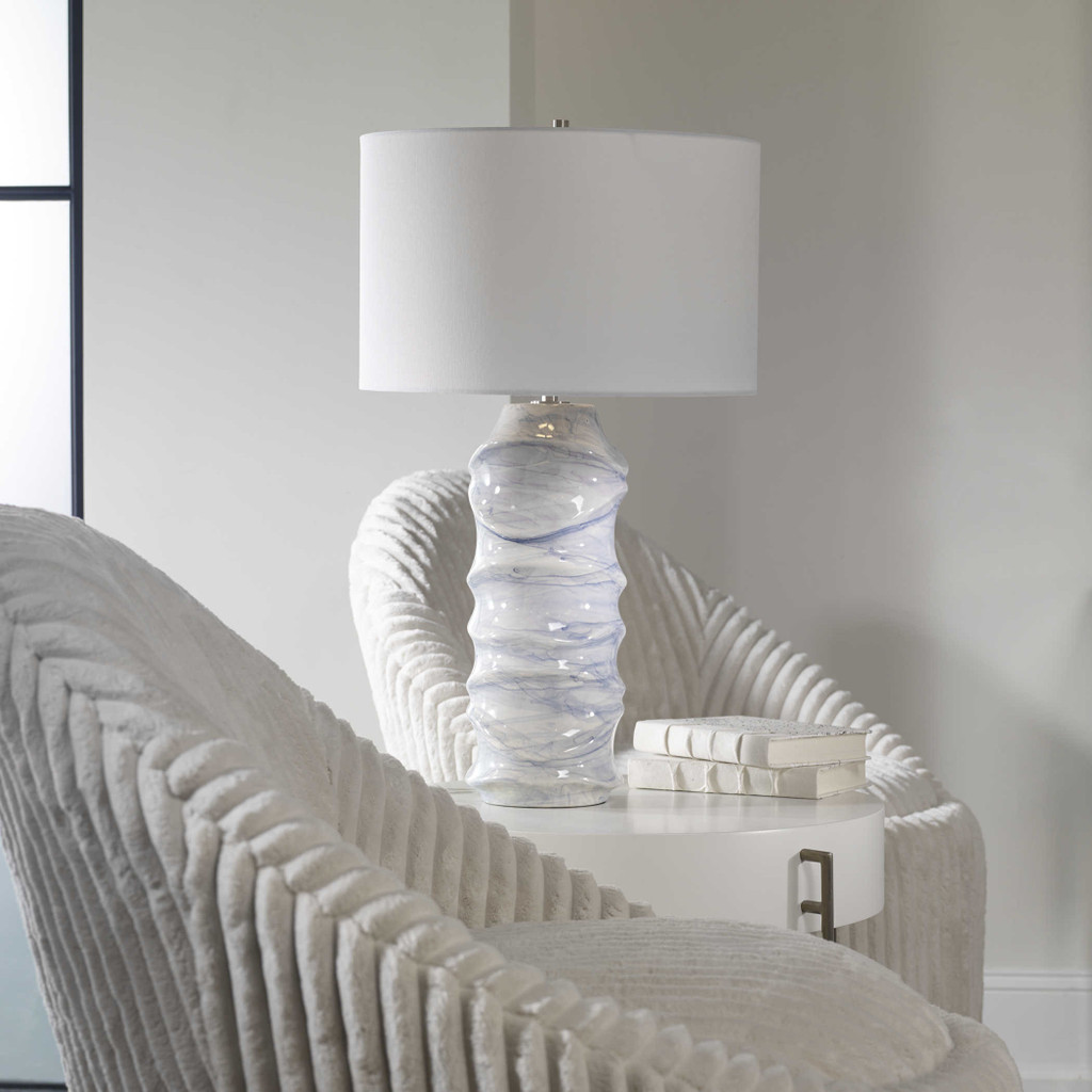 Waves Blue Table Lamp