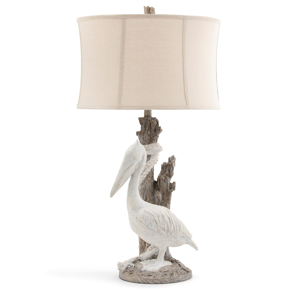 White Pelican Cottage Table Lamp