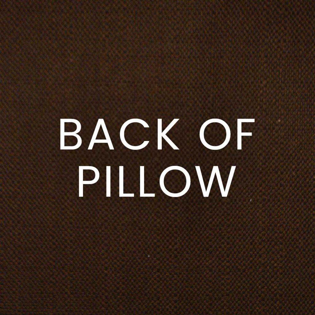 Shelldon 24 x 24 Linen Pillow - Blue Surf back of pillow