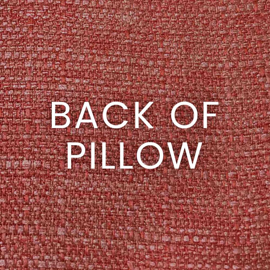 Shelldon 24 x 24 Linen Pillow - Coral back