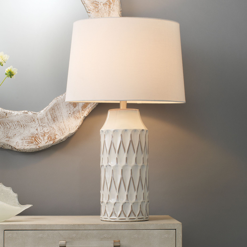 French Seaside Table Lamp room view