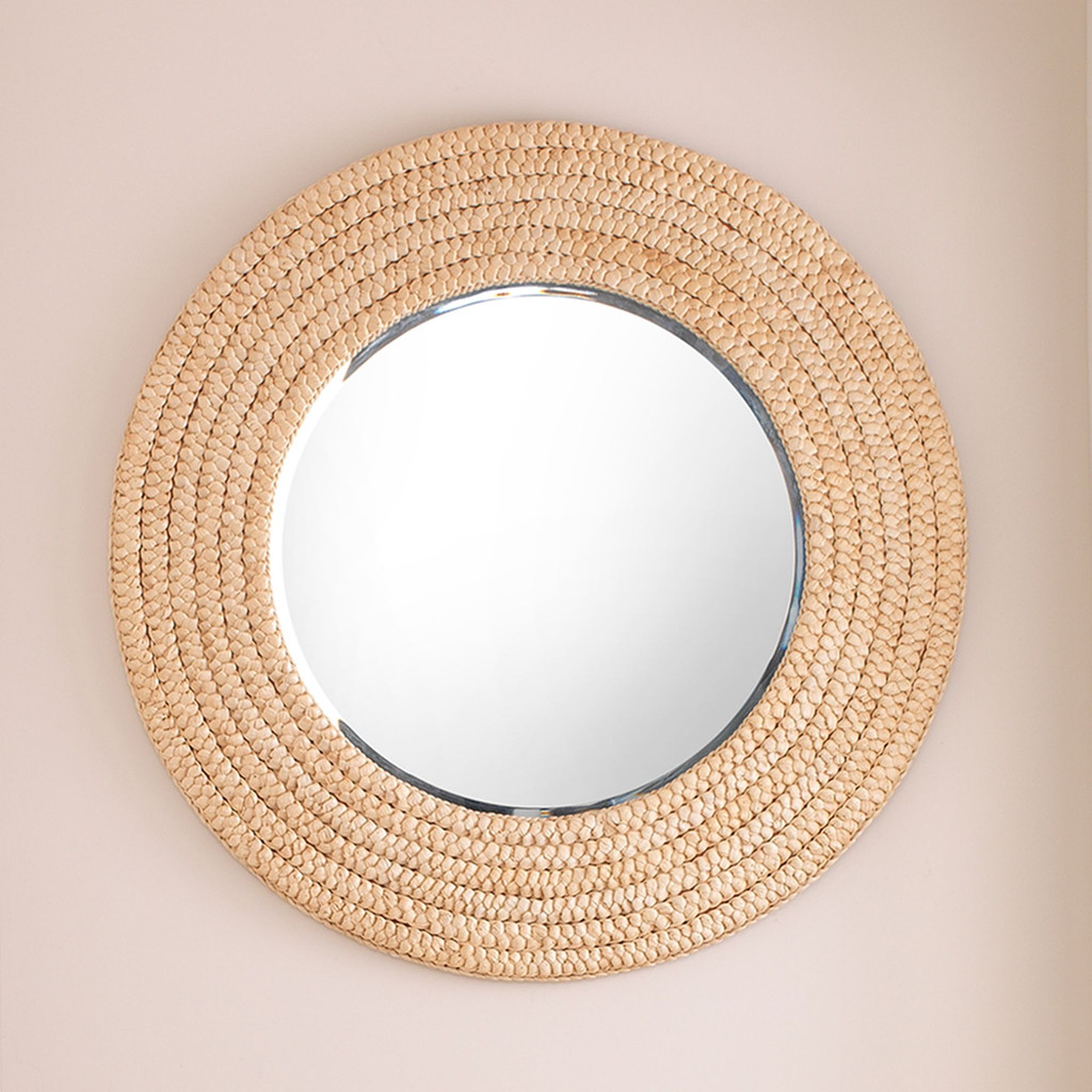 Dune Mirror in Natural Seagrass wall view