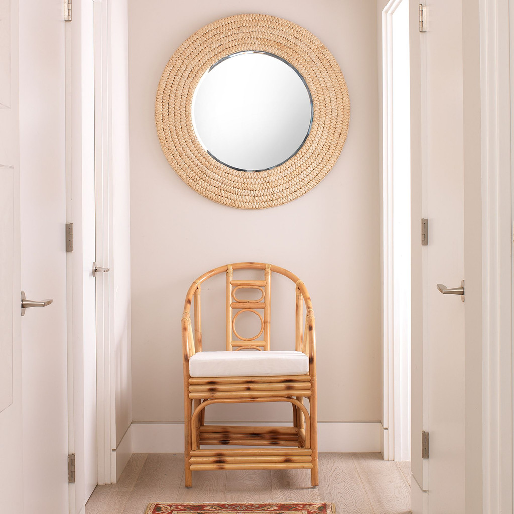 Dune Mirror in Natural Seagrass room view 1