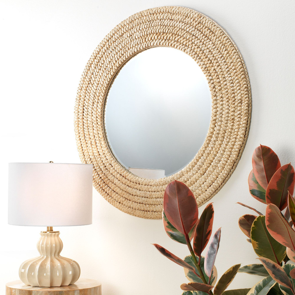 Dune Mirror in Natural Seagrass room view 2
