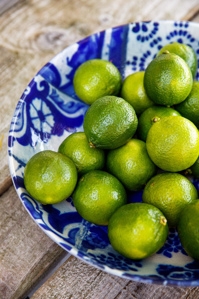 Lisboa Round Serving Bowl with limes