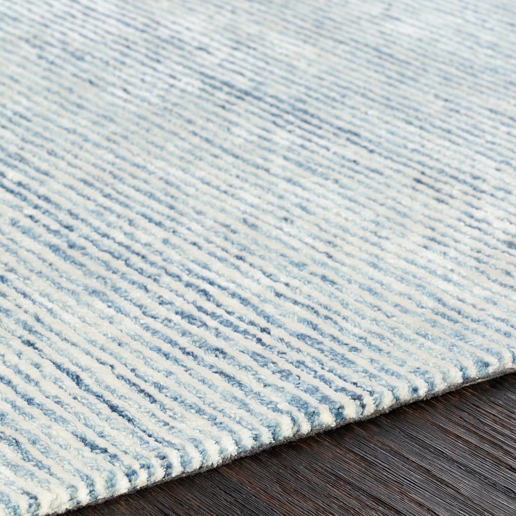 Pale Denim Strada Wool and Viscose Rug edge